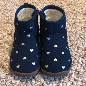 Carter's Toddler Size 5.5 Blue w/Silver Heart Boot